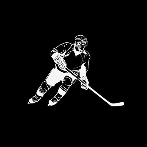Xuniu 16x11cm Art- und Weiseauto-Fenster-Aufkleber, Eishockey-Sport-Abziehbild für das Auto-Anreden