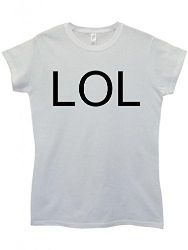 LOL Troll Meme Smiley Cool Funny Hipster Swag White Weiß Damen Women Top T-Shirt Weiß
