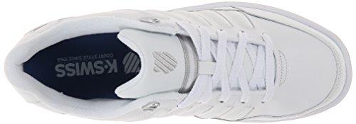 K-Swiss Men's Berlo III Limited Edition Shoe, White/Silver, 10 M US White/Silver