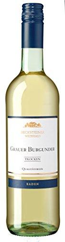 Becksteiner Weinhaus - Grauer Burgunder 2016 Weißwein trocken 11,5% Vol. - 0,75l