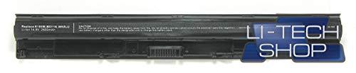 LI-TECH Kompatibler Akku 2600mAh für Dell Vostro 3559 4 Zellen Ersatzteil 38 Wh 2,6 Ah