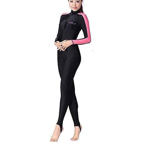 Webetop donne Surf Snorkeling diveing tuta di protezione UV Scuba Suit, Rosa