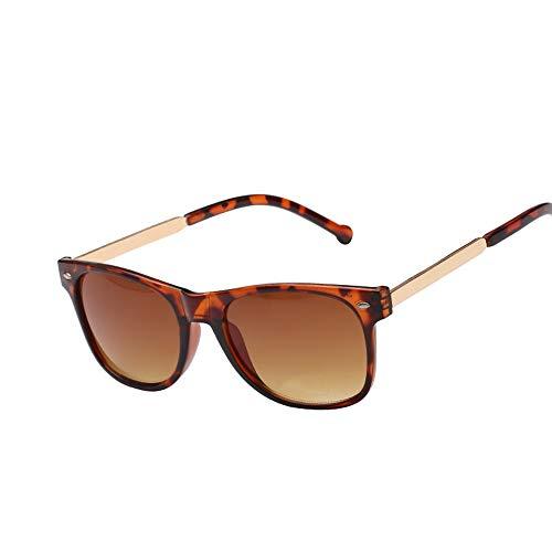 SUPOFAIXIN Square Lady Sunglasses Black Frame Integrierte Sonnenbrille