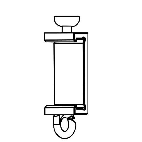 Clips Für Premium Paneelwagen mit den Maßen 25x2,5mm | Farbe Silber/Alu | zum Aufklipsen auf das Paneelwagenprofil (Teller-Gleiter 4-6mm) 2,5 Mm Clip