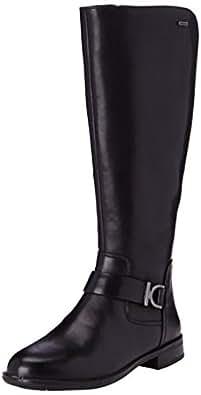 Clarks Mint Treat GTX, Damen Langschaft Stiefel, Schwarz (Black Leather), 38 EU