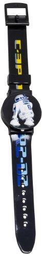 Star Wars Clone Wars - Reloj digital de cuarzo unisex con correa de plástico, color multicolor