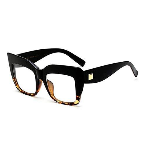 YLYZJH Frauen Klar Cat Eye Brillen Mode Großen Rahmen Quadrat Brillen Männer Transparente Computer Brille Optische Brillen