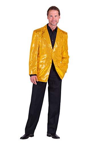 Thetru Herren Kostüm Pailletten Jacke Gold Karneval Fasching Gr.60