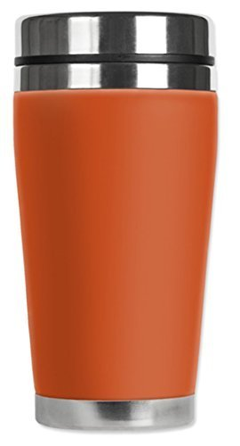 Mugzie Travel Mug with Insulated Wetsuit Cover, 16 oz, Orange by Mugzie