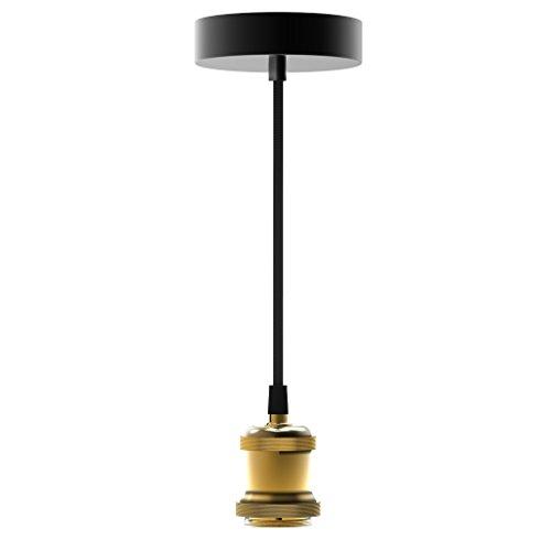 Suspension à douille dorée pour ampoule