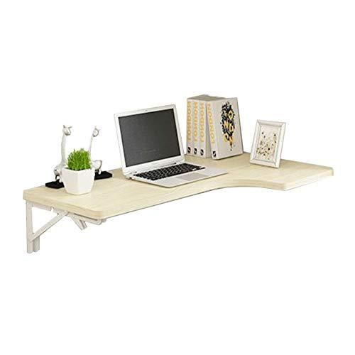 ERRU- Wandmontierter Drop-Leaf-Tisch, Faltbarer Ecktisch Aus Holz, Esstisch & Computertisch, Farbe Weiß Ahorn (größe : 120x60x40cm)
