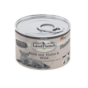 Landfleisch Cat Kitten Pastete Rind+Huhn+Wild   6X 195g Katzenfutter