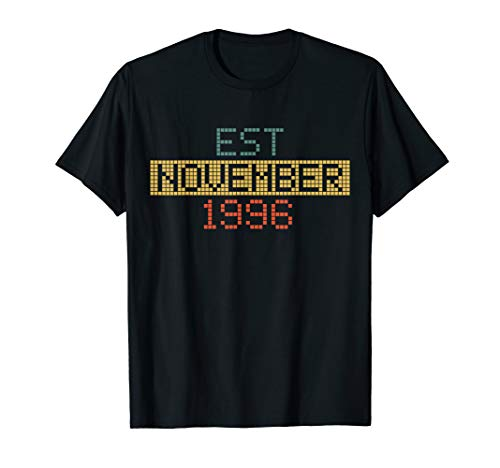Est November 1996 Happy 23rd Birthday T-shirt (Happy 23rd Birthday)