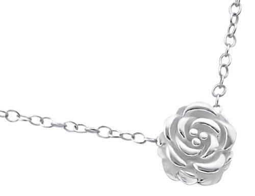 Laimons Damen-Halskette Blume Rose glanz mit Kette 45cm Sterling Silber 925