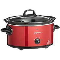 AmazonBasics - Olla de cocción lenta, con 3 niveles de calor y función de mantenimiento del calor, 135-160 W, 3,5 l