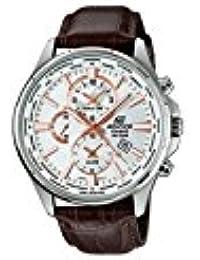 Casio Herren-Armbanduhr Edifice Analog Quarz Leder EFR-304L-7AVUEF