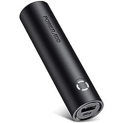 POWERADD EnergyCell Batterie Externe Portable 5000mAh Le Plus Petite et Légère avec la Sortie de 2.4A Mini Batterie de Secour-Noir