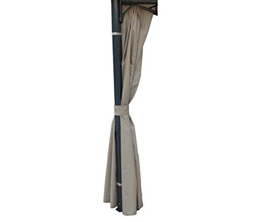 Dehner Wind- und Sichtschutz Seitenteile für Pavillon Dubai 3 x 3 m, 4 Stück, ca. 273 x 197 cm,...