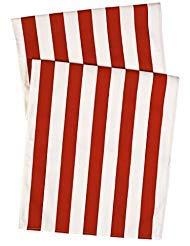 Dekorative Dinge Tischläufer Tischdecke Tisch Bettwäsche Gestreift Rot 182,9x 38,1cm (Juli 4. Party-ideen)