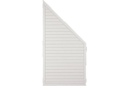 Sichtschutzzaun Kunststoff weiß 90 x 180/90 cm (Serie Juist)