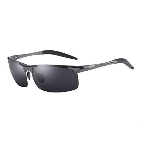 Jinxiaobei Herren Sonnenbrillen Driving Sunglasses.Superlight Frame Design.Sportbrillen.Polarisierte Sonnenbrillen.Für Herren und Damen.UV400 Protection.Classic Sonnenbrille. (Color : Gray)