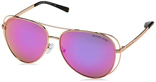 Michael Kors Michael Kors Women's Lai 0MK1024 58mm Rose Gold Tone/Fuchsia Mirror Sunglasses