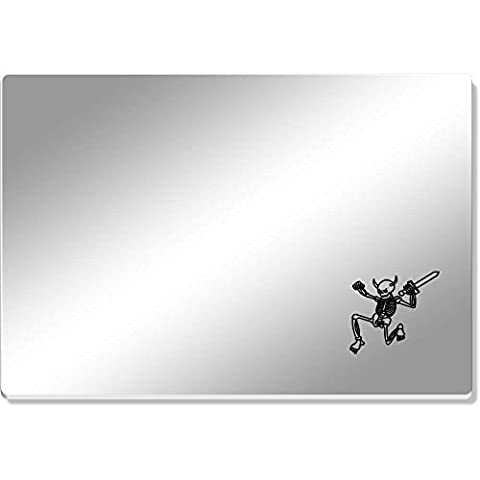 'Skeleton With Sword' Mirror Acrylic Table Placemat (CR00036232)