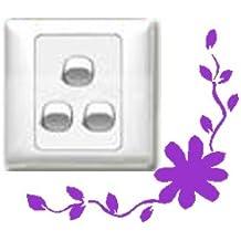 Vinilo decorativo pegatina pared, cristal, puerta (Varios colores a elegir)-flor