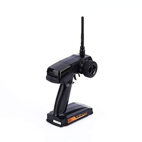 MachinYeser Gris Semi-Transparente FS GT2 2CH 2.4 GHz Radio Control Remoto Transmisor / Receptor RC Receptor Advertencia de Baja tensión Negro