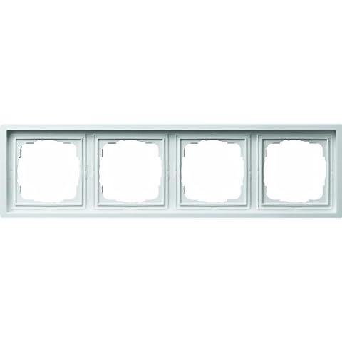 GIRA 0214112 Mascherina di copertura 4 moduli Flächenschalter bianco puro brillante