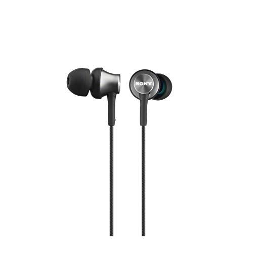 Sony MDR-EX450H geschlossene In-Ear-Kopfhörer grau + WH-CH700N kabelloser Noise Cancelling Kopfhörer (Bluetooth, bis zu 35 Stunden Akku, Schnelladefunktion, NFC) schwarz - 2
