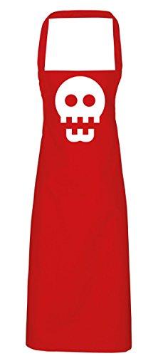 hippowarehouse Skull Icon Schürze Küche Kochen Malerei DIY Einheitsgröße Erwachsene, rot, (Skull Kostüm Candy Red)