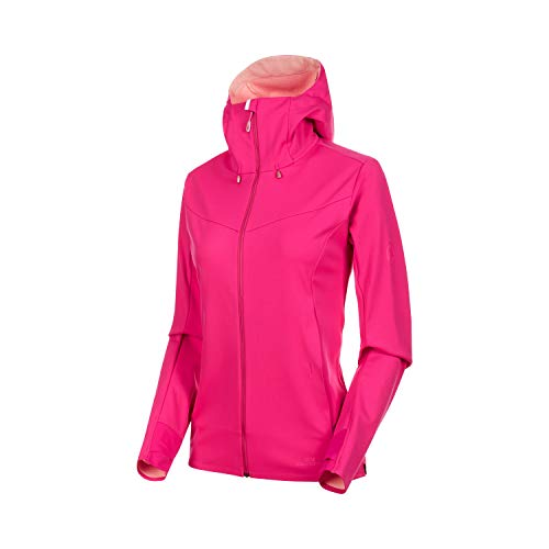 e V Softshell-Jacke Mit Kapuze, pink-Candy Melange, L ()