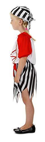 Pirate Girl Kostüm inklusive Rock, Pullover und Kopftuch für Mädchen - 3