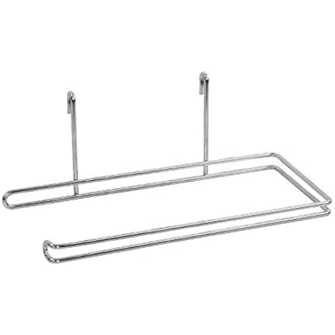 New Paper Towel Holder Wire Shelf Attachment Chrome by Room Essentials