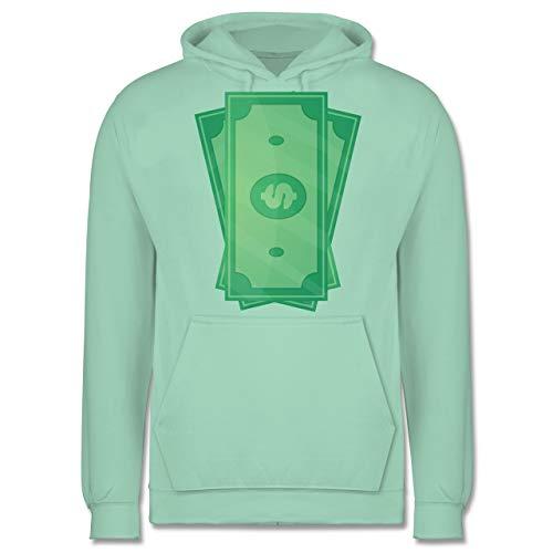 Karneval & Fasching - Geldscheine Kostüm - M - Mint - JH001 - Herren Hoodie (20 Dollar Übergröße Kostüm)
