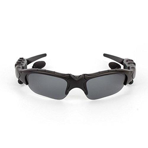 Gafas de Sol Bluetooth, Built-in v 4.1 Auriculares Bluetooth Deportes Estéreo Sunglass con Manos Libres Contestar Teléfono Música Reproductor de MP3 para Android iOS Smartphones y Todo el Dispositivo con Bluetooth