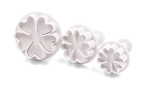 yudanwin Blumen Form Candy Jelly Fondant Kuchen Dekoration Cookie DIY Tools Form Bakeware tools-3pc