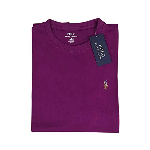 Ralph Lauren T-Shirt Interlook Custom Fit (M, Classic Violet)
