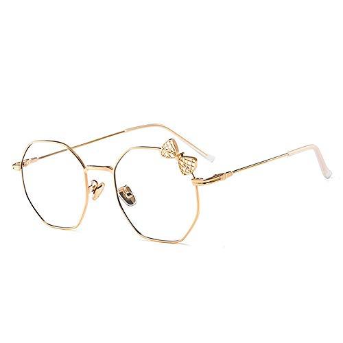 Einfache Brille Cute The Bowknot Flat Blue Glasses Lens Female Spectacle Frames Männer und Frauen Lue Shading Glasses, Blendschutzermüdung, Kopfschmerzen, Augenermüdung, Computer- / Mobile-Schutzbrill