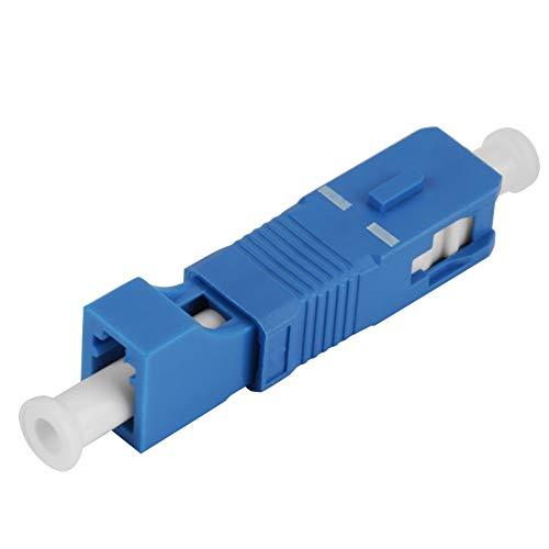 Glasfaseradapter Fiber Optic Adapter, SC Stecker auf LC-Buchse Singlemode Fiber Optic Hybrid Optical Adapter Konverter für Netzwerk und optische Kommunikation