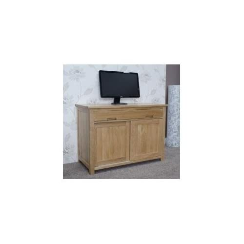 Eton solid oak furniture home office PC hideaway computer desk