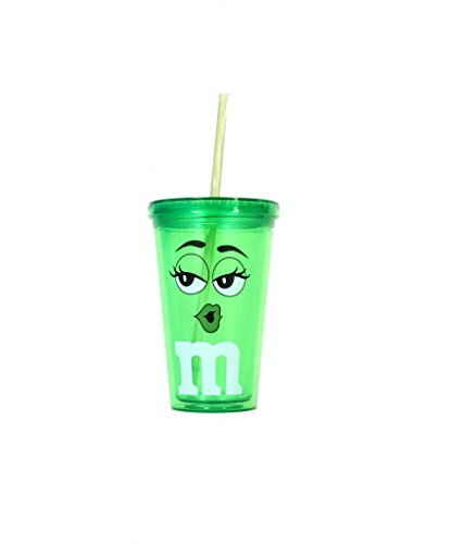 mms-candy-character-face-green-tumbler-cup-and-lid-green-by-m-ms