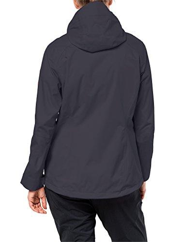 Jack Wolfskin Arroyo Hardshelljacke Damen, Wetterschutz Funktionsjacke für Damen, wasserdichte, winddichte & atmungsaktive Regenjacke, Outdoorjacke mit angenehmer Passform, schwarz - 2