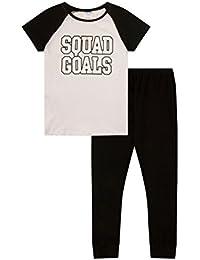 ThePyjamaFactory Teenage Girl's Pyjamas Squad Goals PJS 9 To 16 Years