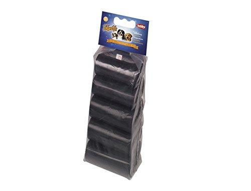 Nobby 67357 TidyUp Kotbeutel Vorratspack 10 Rollen, 15 Beutel, schwarz