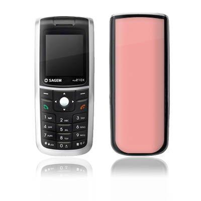 DeinDesign Sagem my 210X Case Skin Sticker aus Vinyl-Folie Aufkleber Lachs helles Pink Rosa -