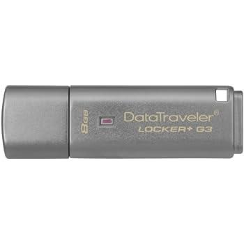 Kingston DTLPG3/8GB Data Traveler Locker G3, USB 3.0 Schutz persönlicher Daten und automatisches Cloud-Backup