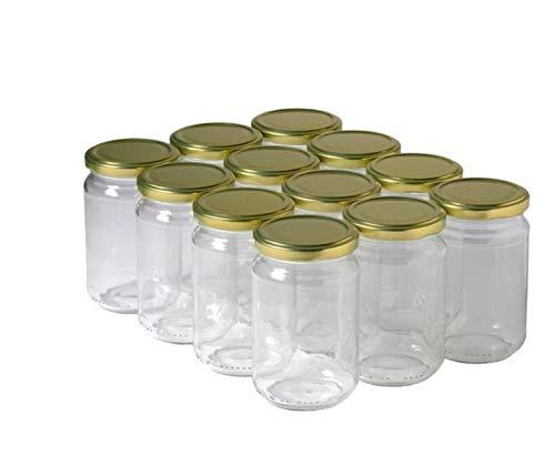 15 Pots Verre 1kg pour Miel, Con...