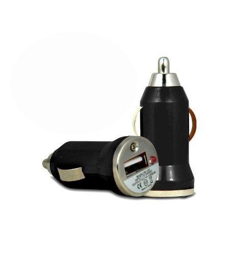 4s Auto-ladegerät Iphone (DaoRier KFZ Ladegerät USB Ladegerät Adapter für Apple iPhone 3GS 4/4S 5 iPod Auto-Ladegerät Schnelle Bullet In Car USB-Ladegerät Schwarz)